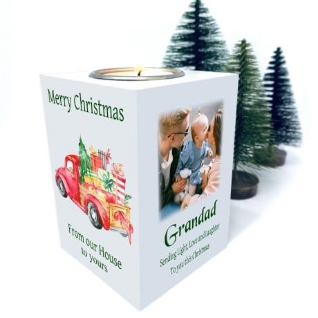 Christmas Tealight Holder - Sending light, Love and Laughter