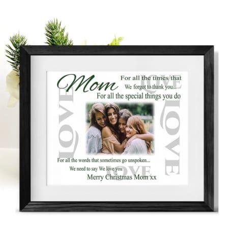 Christmas Thank you Frame - Mom