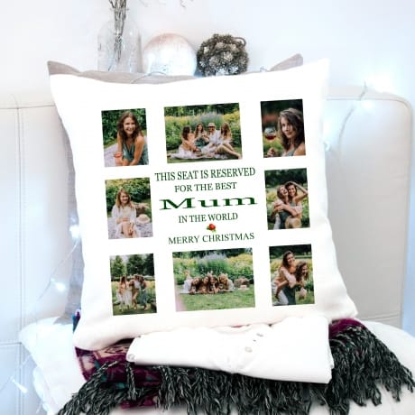 This seat is reserved Christmas Cushion