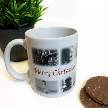 Christmas Photo Collage Mug