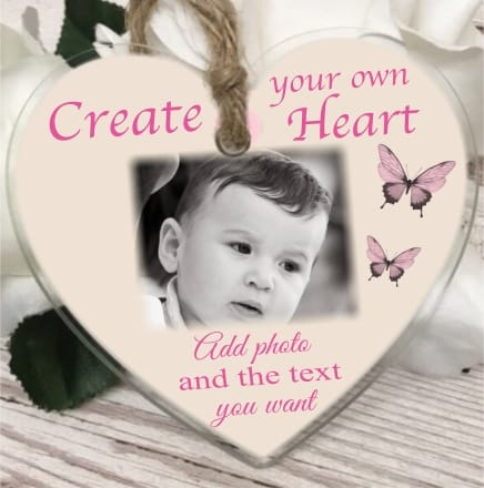 Create your own large acrylic heart