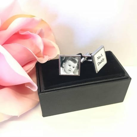 Personalised cuff links boxed set