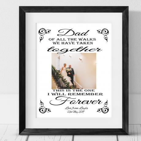 Personalised Photo Gift - Wedding walk