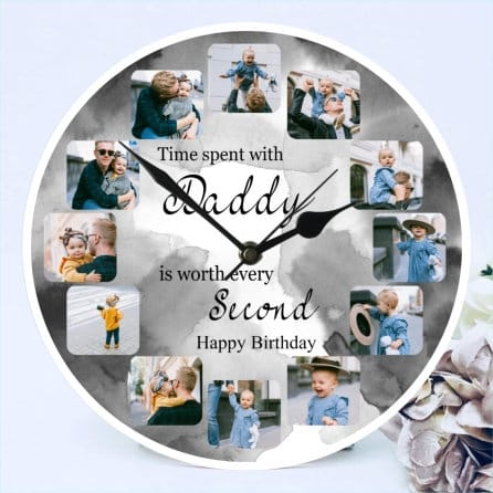 Birthday clock - Time spent with