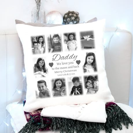 Christmas Cushion Dad- Love You To The Moon
