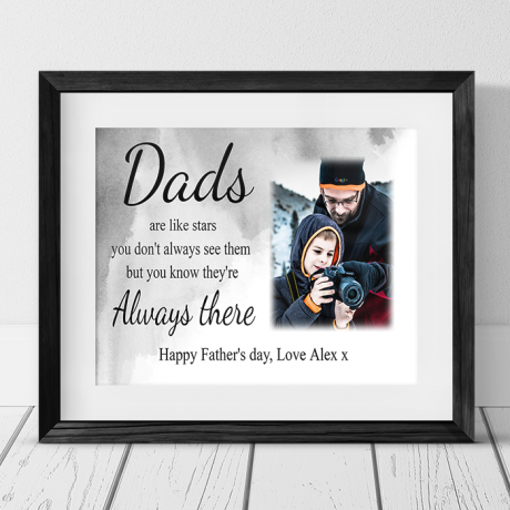 Father's day ... like stars photo frame