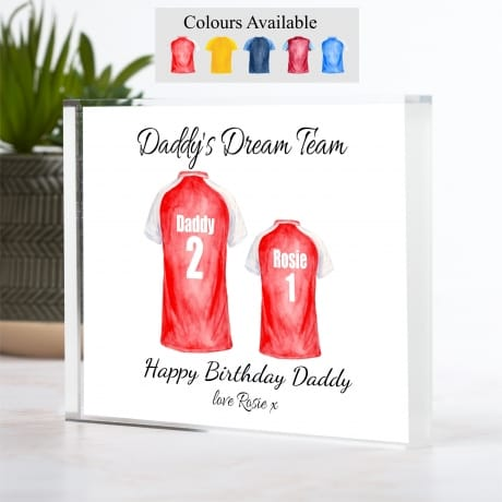 Personalised Family of 2 Football Team
