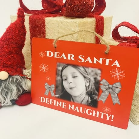 Christmas sign - Define naughty