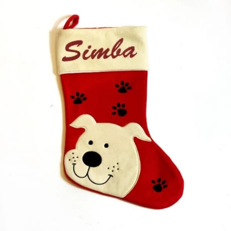 Glitter Name Dog Stocking