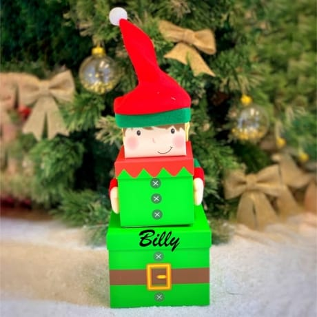 Personalised Elf Gift Box - Set x3