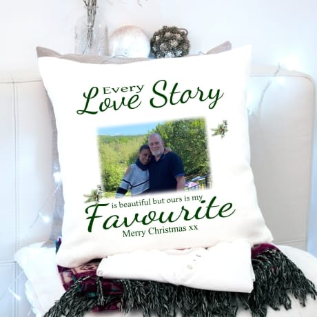Personalised Christmas cushion - Every love story