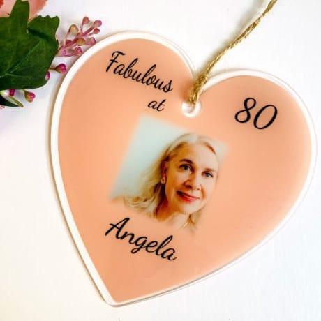 80th Birthday Heart