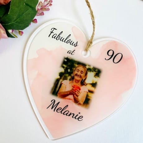 90th Birthday Heart