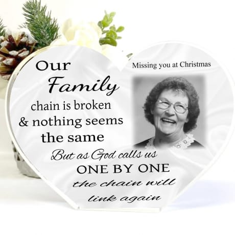 Personalised Christmas Family Chain Heart Block