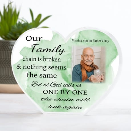 Personalised Father's Day Family Chain Heart Block