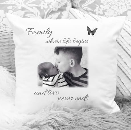 Personalised photo Cushion : Family