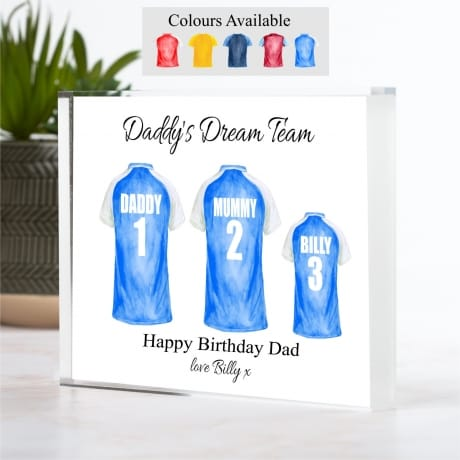 Personalised Family of 3 Football Team