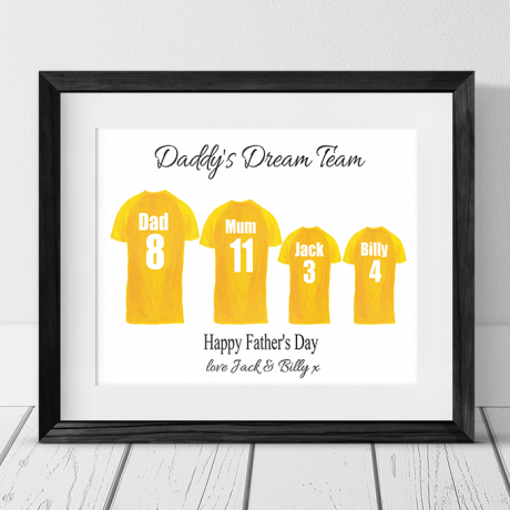 Personalised Family of 4 Football Team Photo Frame