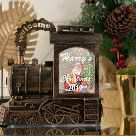 Train Snow Globe - 1st Christmas