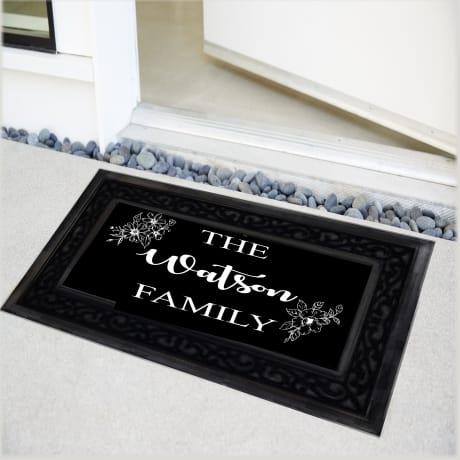 Personalised Luxury Floral Doormat