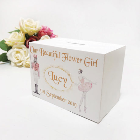 Personalised Money Box Flower Girl