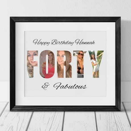 Forty Letters Personalised Photo Collage