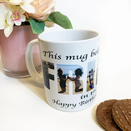 Friend Photo Letters Mug