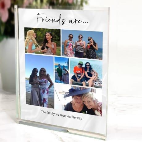 6 photo Birthday Collage Block - Friends are