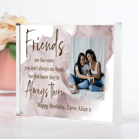 Birthday Friend  ...like stars photo block