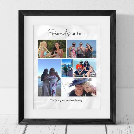 6 photo Birthday Collage Print - Friends are