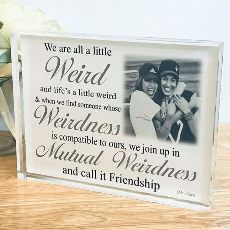 Personalised friendship photo gift