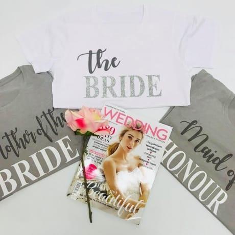 Glitter text wedding lounge wear - Bridesmaid