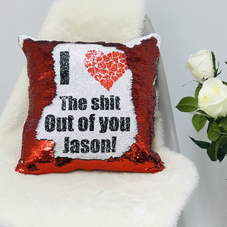 Fun sequin reveal cushion