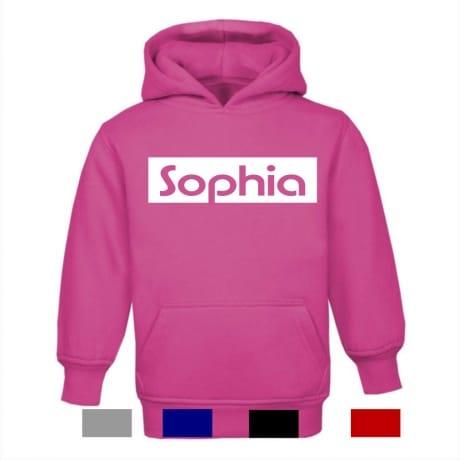 Personalised kid's name hoodie