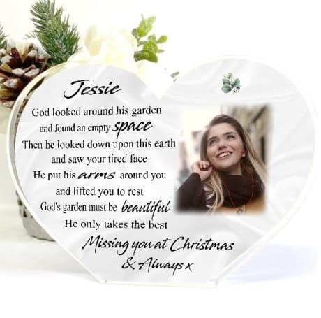 Missing you at Christmas - God's Garden Heart Block