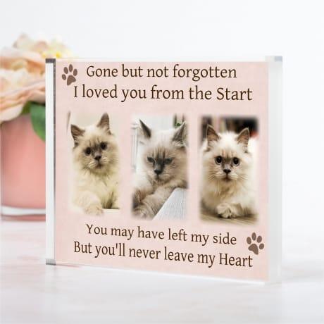 Pet Remembrance Photo Block Collage