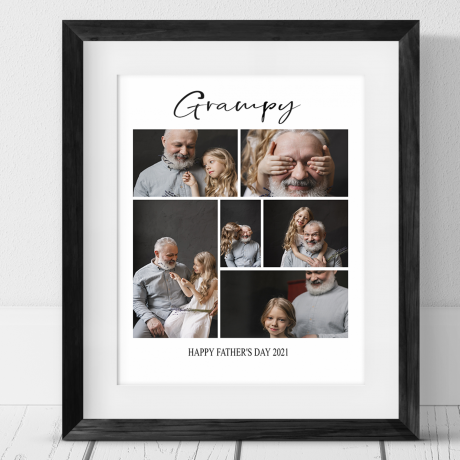 6 photo collage - Father's day