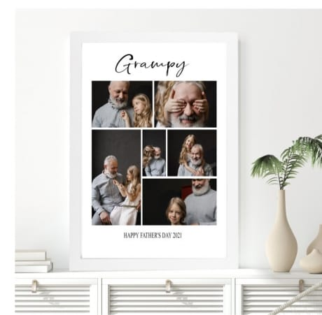 6 photo Collage wall frame - Father's day