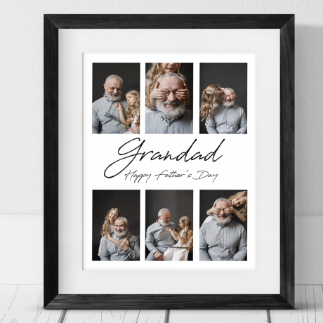 6 Photo Personalised Father's Day Collage