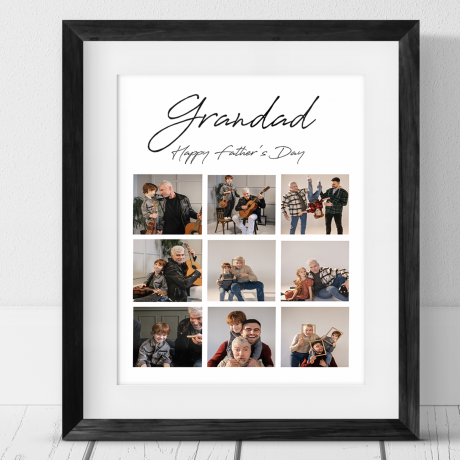 9 Photo Personalised Father's Day Collage