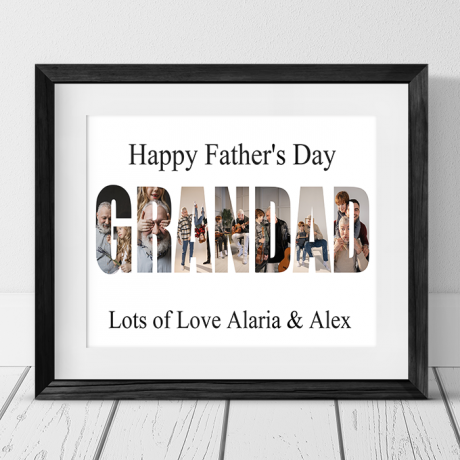 Grandad photo collage - Father's Day gift