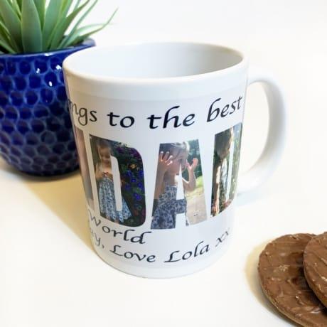 Grandad Photo Letters Mug