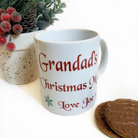 Personalised Christmas Truck Mug
