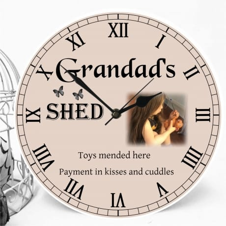 Personalised clock - Grandad's shed