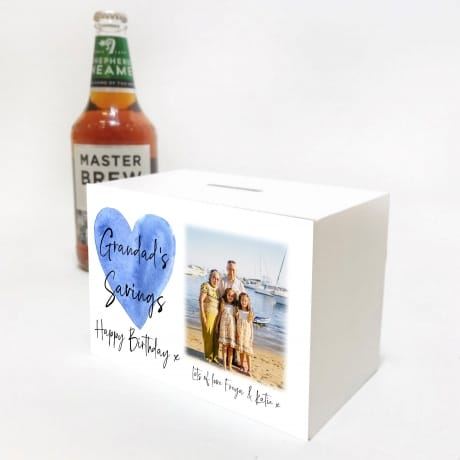 Mens Birthday Money Box