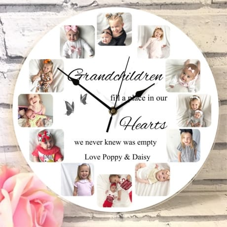 Personalised 12 photo clock
