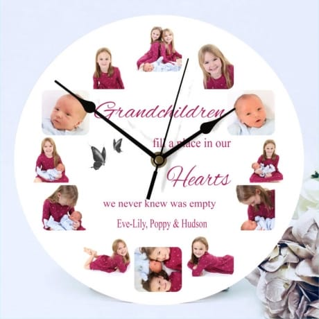 Personalised 12 photo clock