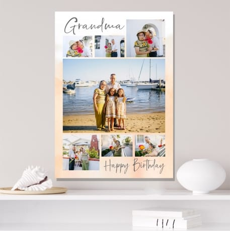 7 Photo Birthday Canvas Collage