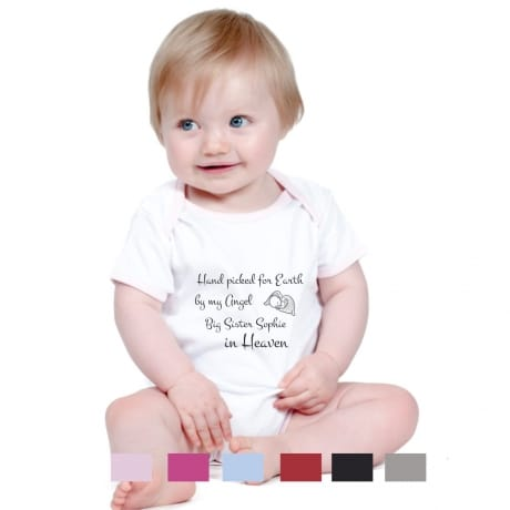 Hand picked for earth personalised bodysuit