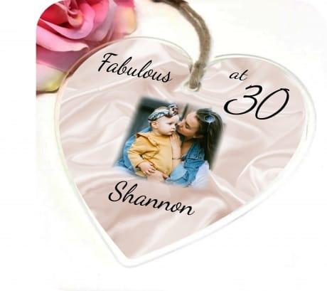 30th Birthday Heart
